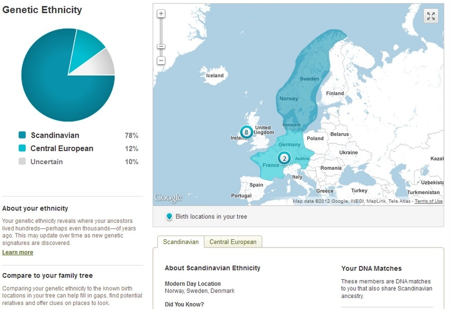 ancestry dna test results ethnicity